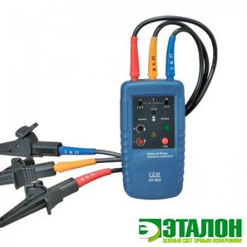 DT-902, индикатор порядка подключения обмоток электродвигателя и порядка чередования фаз