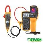 Fluke VT04-ELEC-KIT, комплект инфракрасного измерителя температуры (пирометра) с клещами Fluke 376 и мультиметром Fluke 117