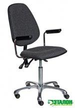 VKG C-200 ESD, антистатический тканевый лабораторный стул с регулировкой угла наклона спинки и сидения